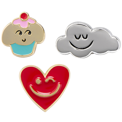 PI9001 Trolls Pin Set Cupcake Heart Cloud X2 copy